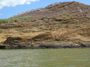Impressive stratigraphy in Central Island National Park